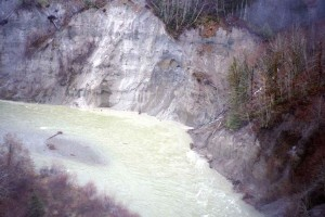 Cowichan River before restoration