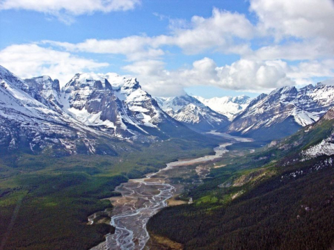 Headwaters of the Athabasca River  Photo: R.G. Holmberg, via Athabasca River Basin Image Bank